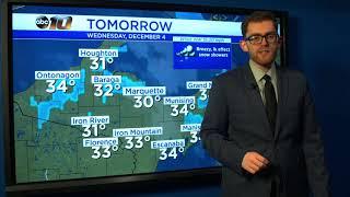 Upper Peninsula Weather Forecast - December 3, 2019