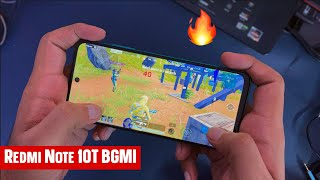 Redmi Note 10T 5G BGMI Gaming Review with FPS & Heating Test   Gyro, Gameplay, Hindi 🔥🔥🔥