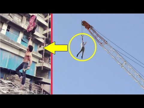 Tiger Shroff's Amazing Stunt On Crane For Baaghi 2