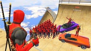 GTA 5 Crazy Ragdolls Spiderman Vs Deadpool vol.2 (GTA 5 Euphoria Physics Ragdolls Fails Funny)