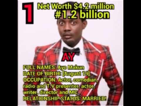 Top 10 richest comedian in Nigeria (latest) 2018