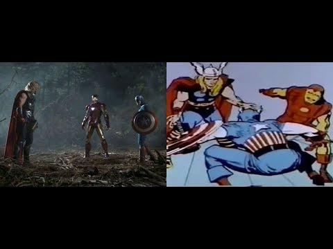 The Avengers (2012) 1960s Animation side x side remake