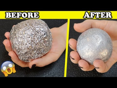 How To Make POLISHED ALUMINIUM FOIL BALL ! New Japanese Trend ! Very Satisfying