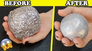 connectYoutube - How To Make POLISHED ALUMINIUM FOIL BALL ! New Japanese Trend ! Very Satisfying