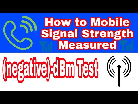 How To Measure Cell Signal Strength On Android Phones   (negative)-dBm Test
