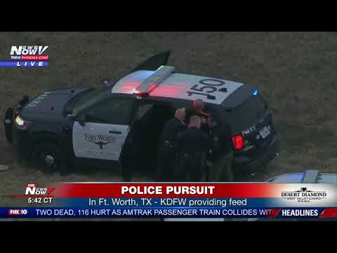 SUSPECT IN CUSTODY: Following police chase in Fort Worth, Texas (FNN)