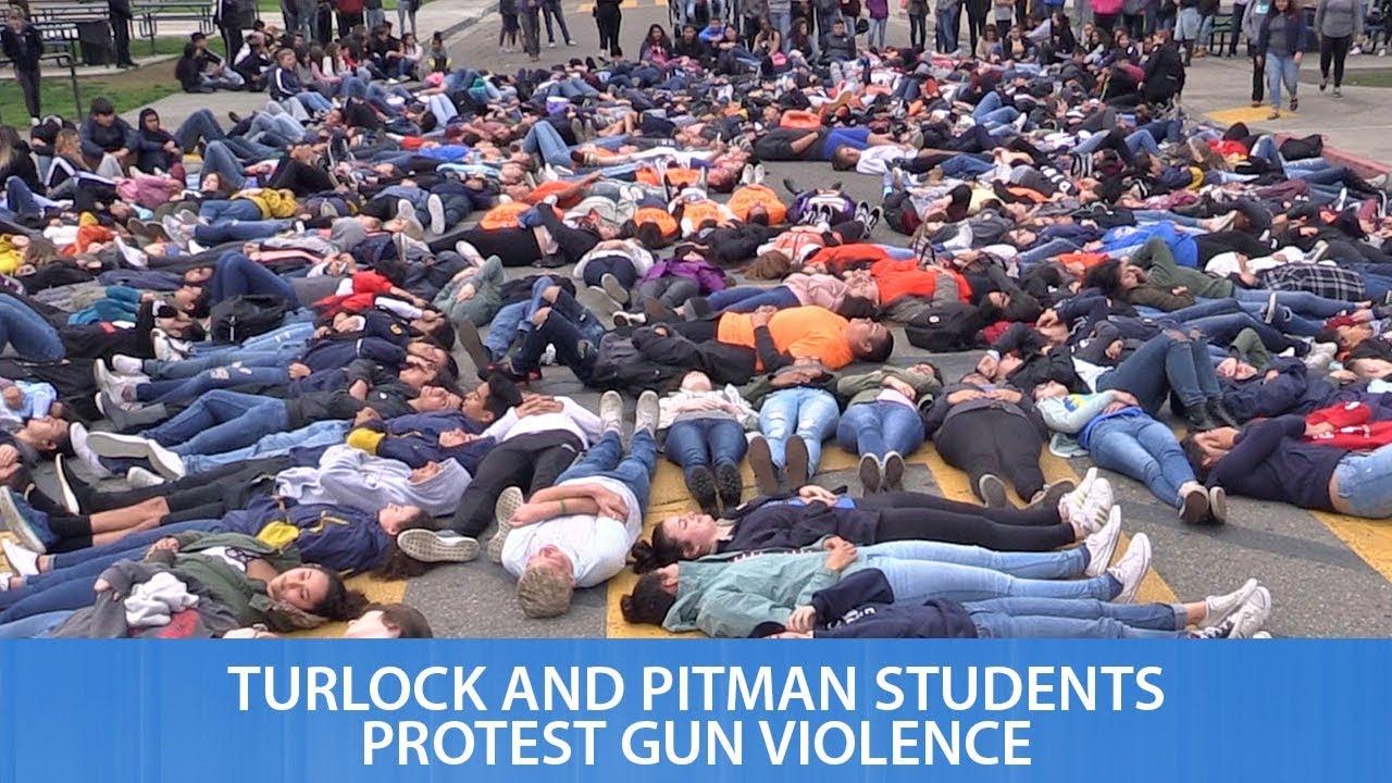 Turlock and Pitman High Students Protest Gun Violence