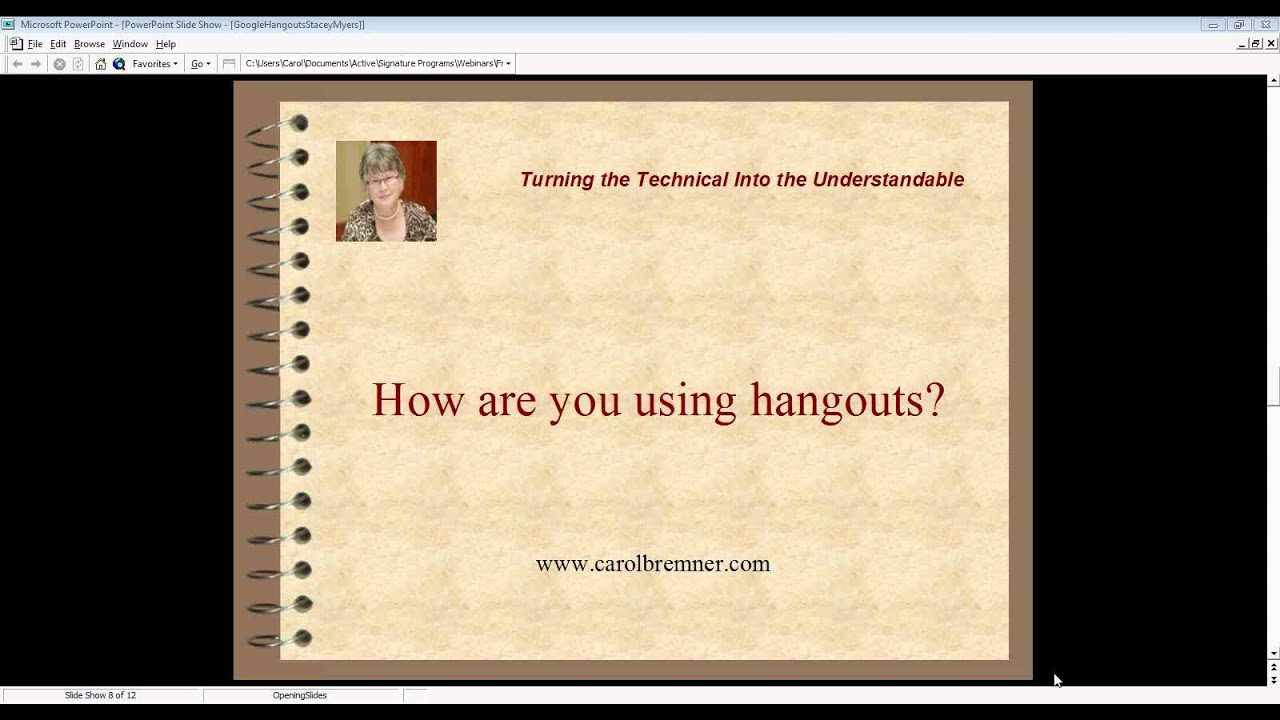 Stacey – Google Hangouts – Online Success TV