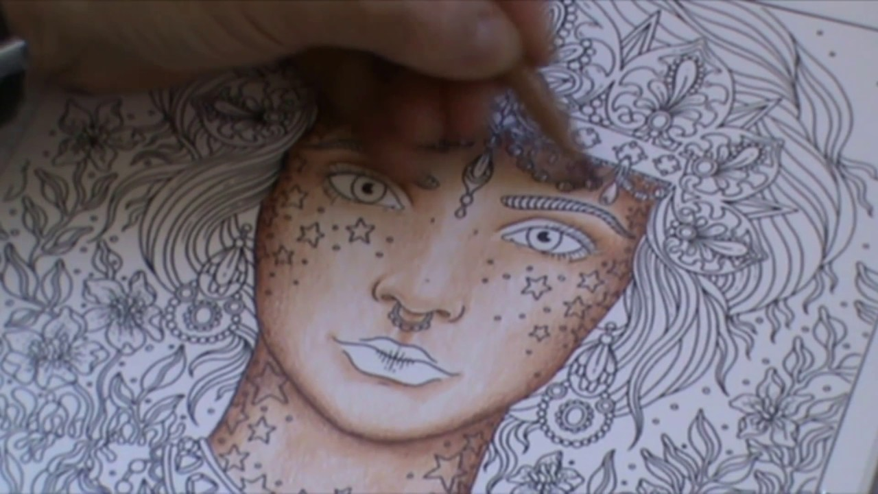 Tuto Colorier Un Visage Aux Crayons De Couleurs