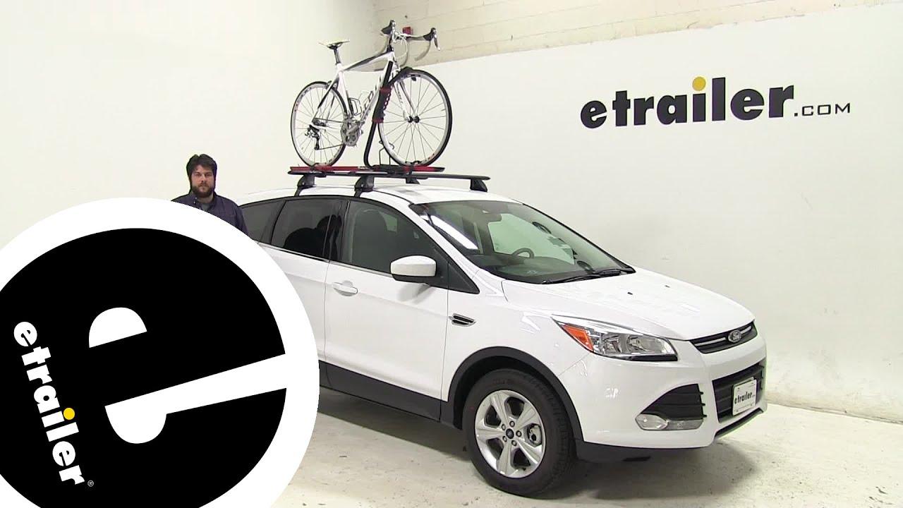 Etrailer Rockymounts Roof Bike Racks Review 2016 Ford Escape Youtube