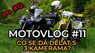 MOTOVLOG #11 cz/sk Co se dá dělat s 3 kamerama? Experiment😜
