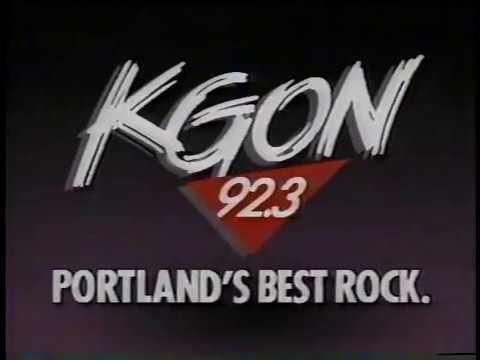 KGON 923 Portland Radio Station 80s Commercial 1988