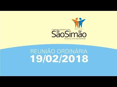 REUNIAO ORDINARIA 19/02/2018
