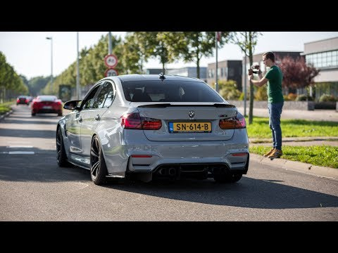 BMW M3 F80 with Decat M Performance Exhaust - LOUD Revs, Acc