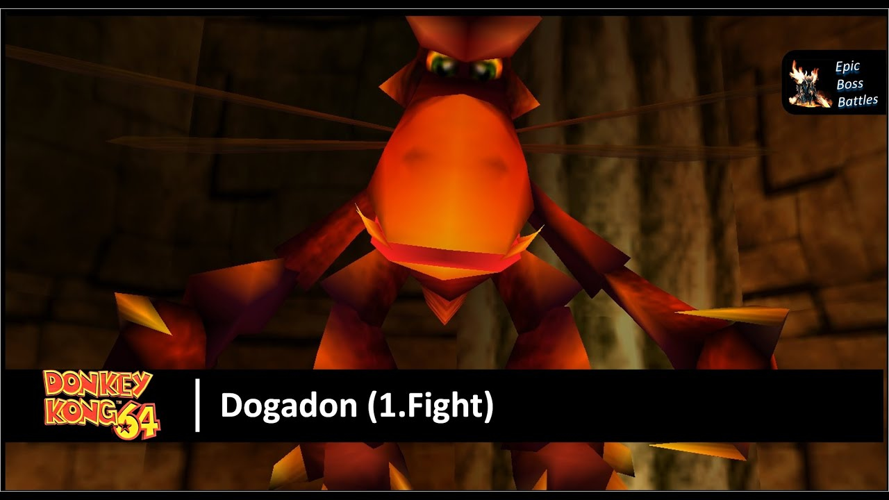 Donkey Kong 64 - Dogadon Boss Battle (1.Fight) - YouTube  Donkey Kong 64 ...