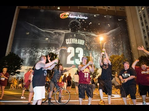 NBA CHAMPIONS! EPIC WIN FOR CAVS FINALS NIGHT IN DOWNTOWN CLE