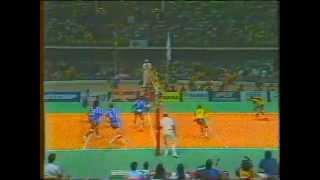 Volei - Brasil x Franca - 1990 - Galvao Bueno