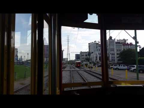 Onboard RTA StreetCar #457 Canal Street-French Market
