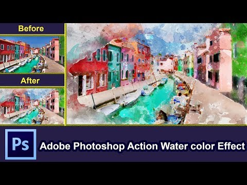 Watercolor Effect in Photoshop - Photoshop Tutorial