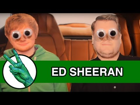 Ed Sheeran Carpool Karaoke Cardboard Parody by Runforthecube