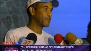 Coalición Poder Ciudadano dice jornada prevención dengue se trata de politiquería