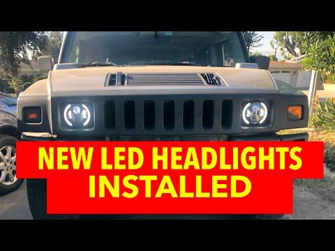 HUMMER H2 LED HEADLIGHTS INSTALL