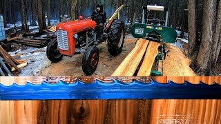 Beautiful Wood Grain from a Diseased Elm Tree / Log Cabin Update- Ep 11.9