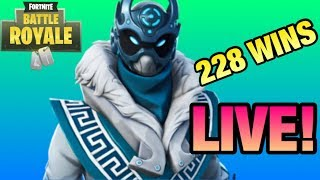 228 WINS 'TOTAL' 5000 VBUCKS GIVEAWAY! (Funny Fortnite Live Stream)