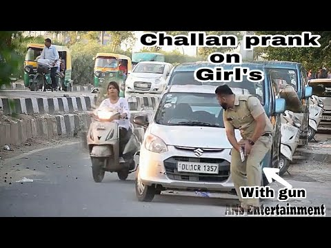 Police Traffic Challans PRANK On GIRLS| ANS Entertainment | 2019 Prank In INDIA| ENCOUNTER MIX Part7