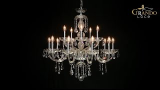 Olympia Collection Classic Baroque Crystal Chandeliers - GrandoLuce Video