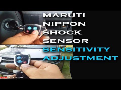 Maruti Nippon Shock Sensor Sensitivity Adjustment || How To Adjust Car Sensitivity