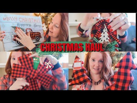 Christmas Decor Haul | Buffalo Check Plaid | Vlogmas Day 3