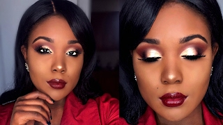 ANTI-Valentine's Day Makeup Tutorial For Dark Skin 2017