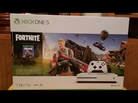 Fortnite Battle Royale XBOX ONE S Bundle Pack Unboxing