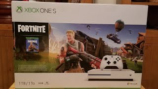 Fortnite Battle Royale XBOX ONE S Bundle Pack Unboxing