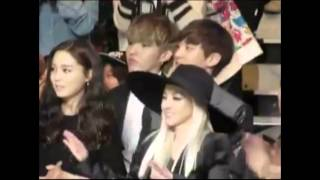 PART 3: Chandara (Dara and Chanyeol) moments at MAMA 2013