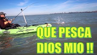 QUE PESCA DIOS MIO !!! COMO SE DISFRUTA DEL KAYAKFISHING !!