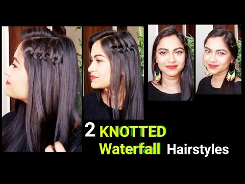 3 Quick Easy Holiday Hairstyles For Medium Long Hair Easy Indian
