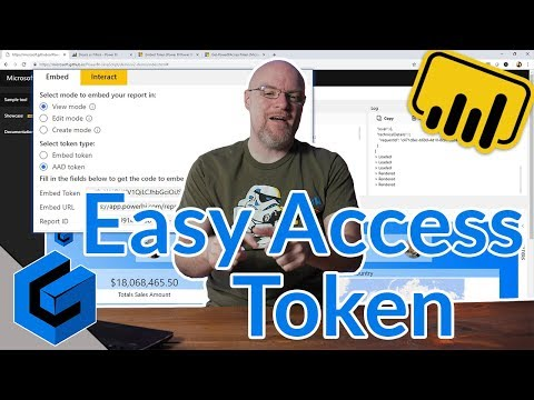 Easily Get An Access Token For The Power BI Embedded Playground