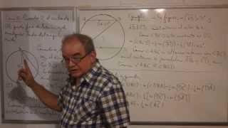 Geometría - Lección 56 - B (medida del ángulo inscrito en un círculo)
