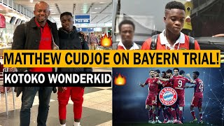 GOOD NEWS Kotoko 16 Years Wonderkid Matthew Cudjoe In Germany For Bayern Munich Trials VIDEO
