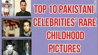 Top 10 Pakistani Celebrities' Rare Childhood Pictures