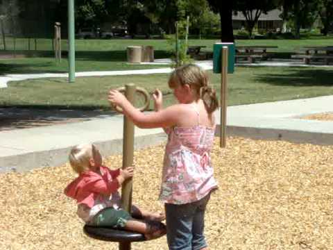 baby layla being naughty at the park