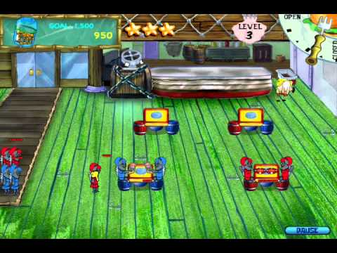 SpongeBob SquarePants Diner Dash (PC) Walkthrough (Part 1)