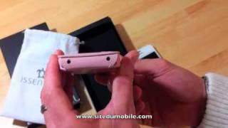 Housse Issentiel iPhone 4 4S cuir sitedumobile