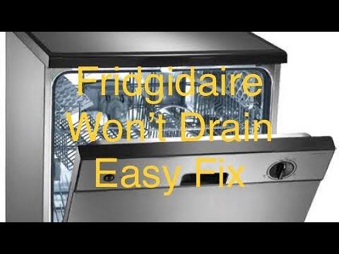 Fridgadaire Dishwasher Won T Drain Fixed Youtube