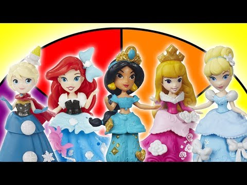 Spin The Wheel Disney Princess Dress Up Switcheroo Game!