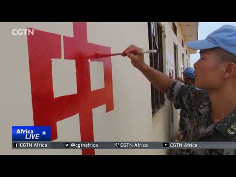 Chinese troops aid in restoring destroyed South Sudan school