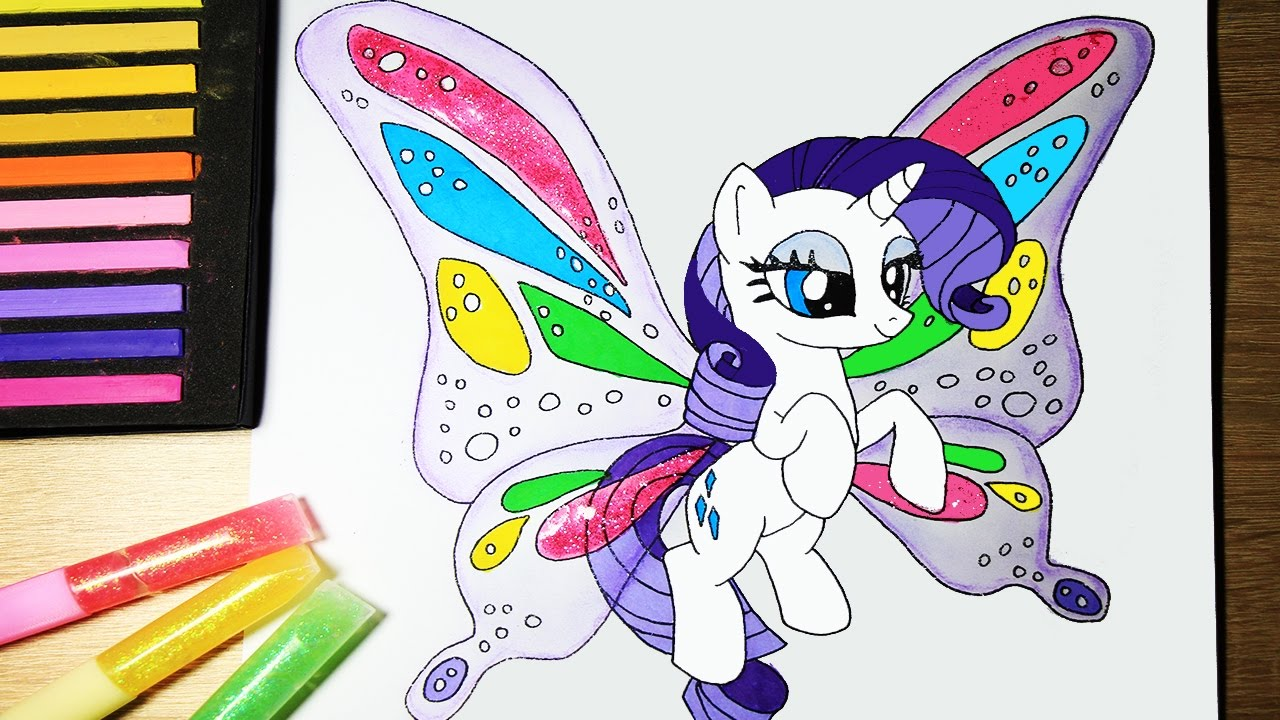 My Little Pony How To Draw Rarity Butterfly Equestria Girl with ...
