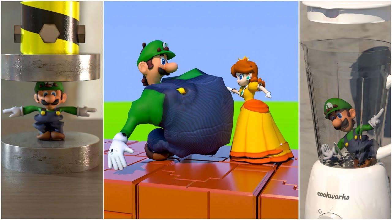 20 Fun ways to kill Luigi [Death animations] 😁